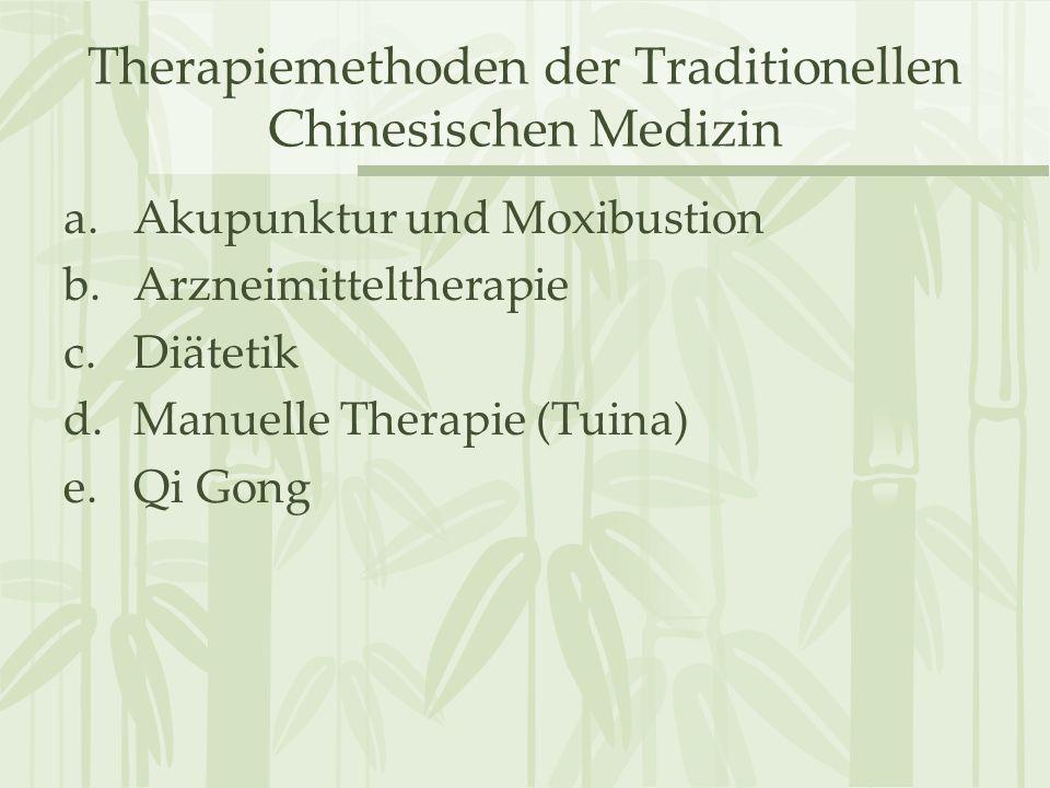 Therapiemethoden der Traditionellen Chinesischen Medizin