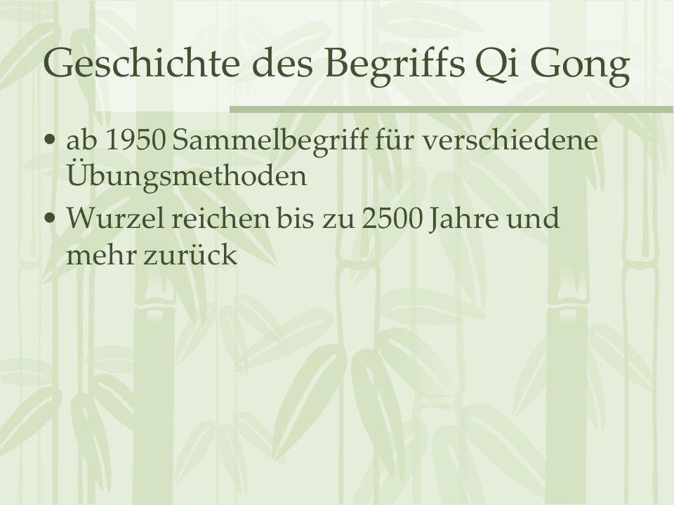 Geschichte des Begriffs Qi Gong