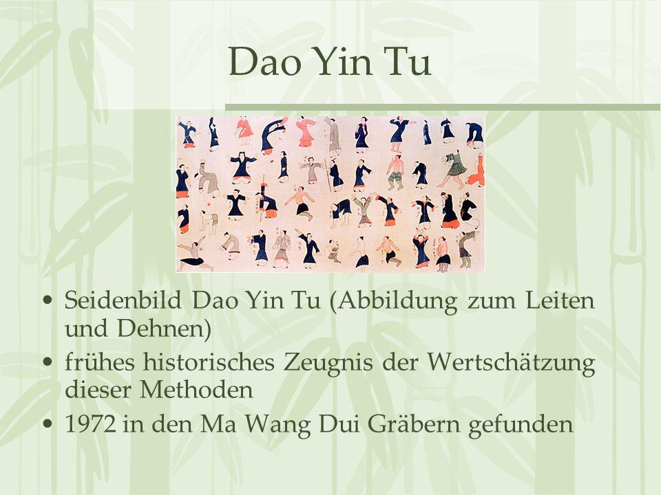 Dao Yin Tu Seidenbild Dao Yin Tu (Abbildung zum Leiten und Dehnen)