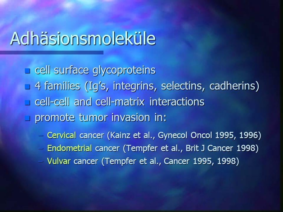 Adhäsionsmoleküle cell surface glycoproteins