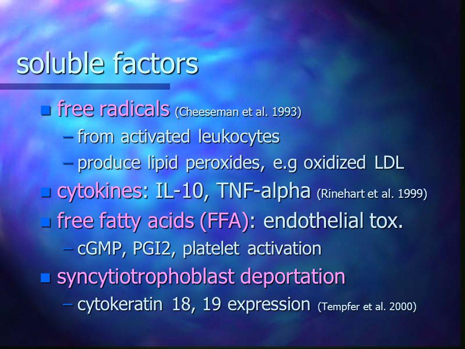 soluble factors free radicals (Cheeseman et al. 1993)