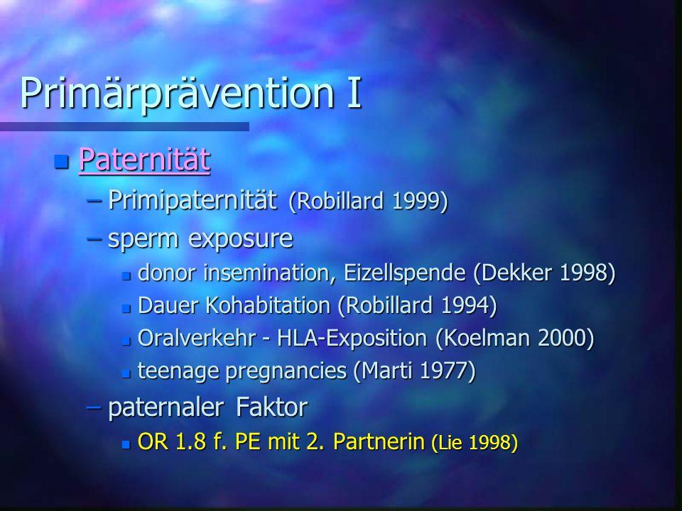 Primärprävention I Paternität Primipaternität (Robillard 1999)