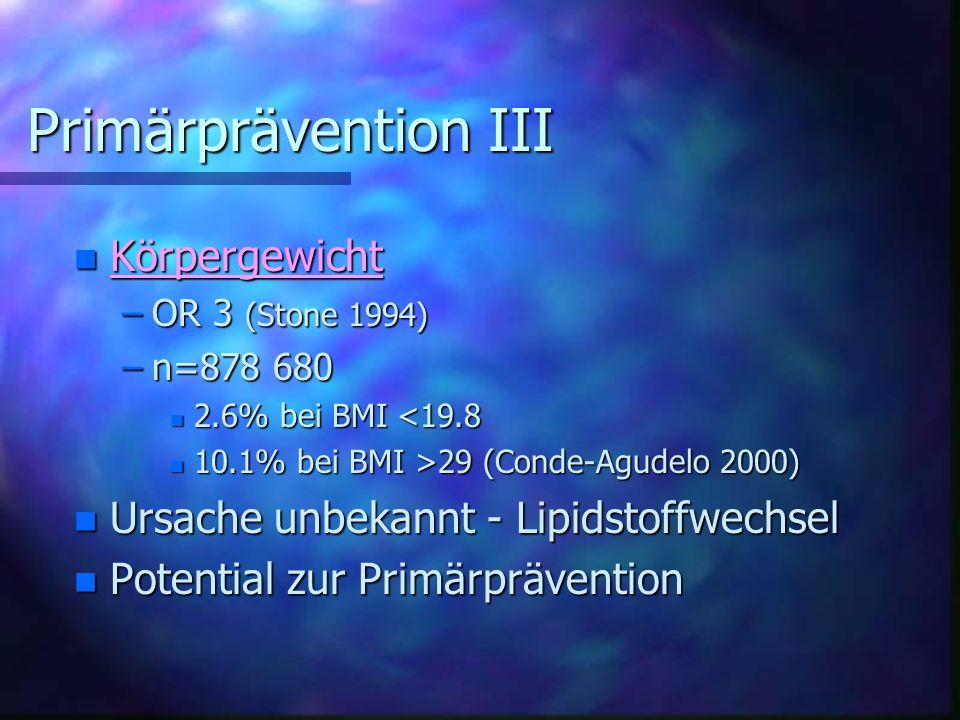 Primärprävention III Körpergewicht