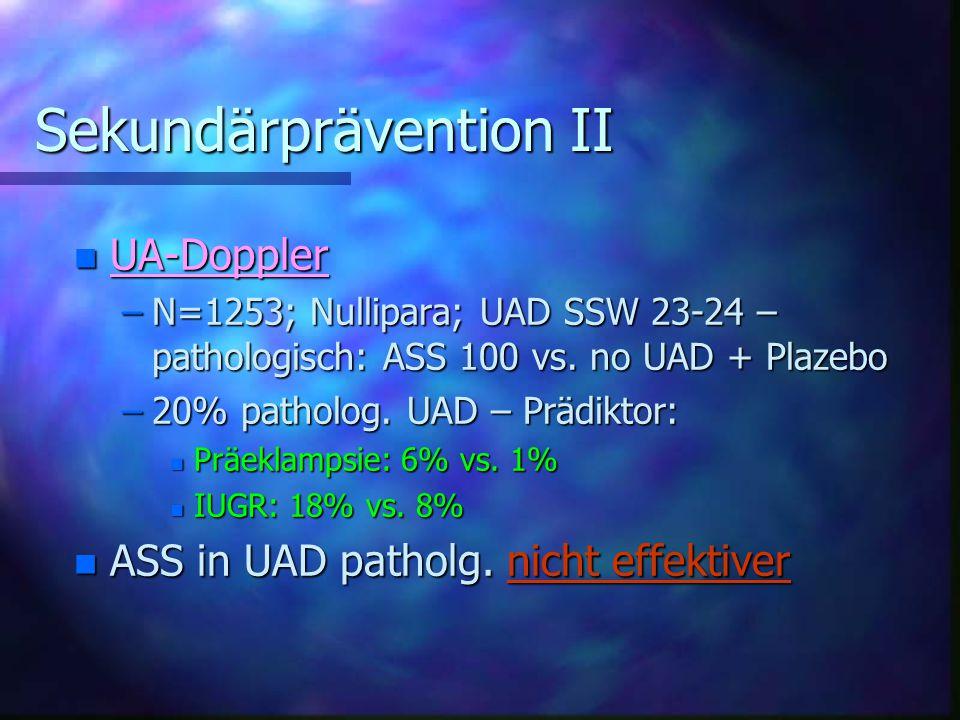 Sekundärprävention II
