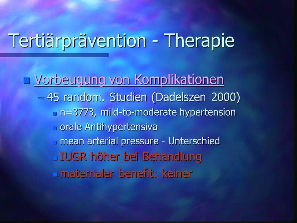 Tertiärprävention - Therapie
