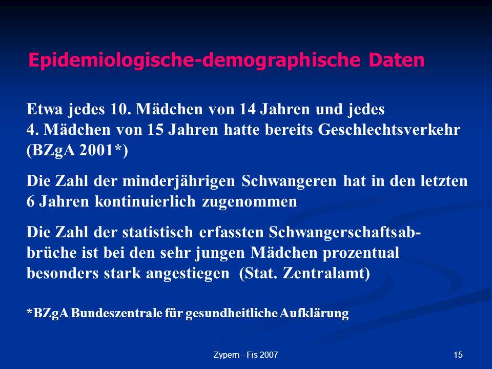 Epidemiologische-demographische Daten