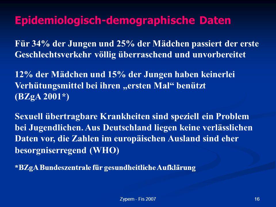 Epidemiologisch-demographische Daten