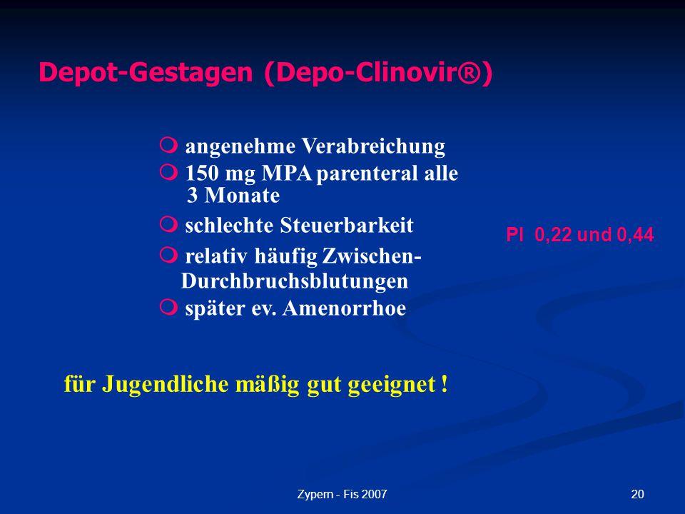Depot-Gestagen (Depo-Clinovir®)