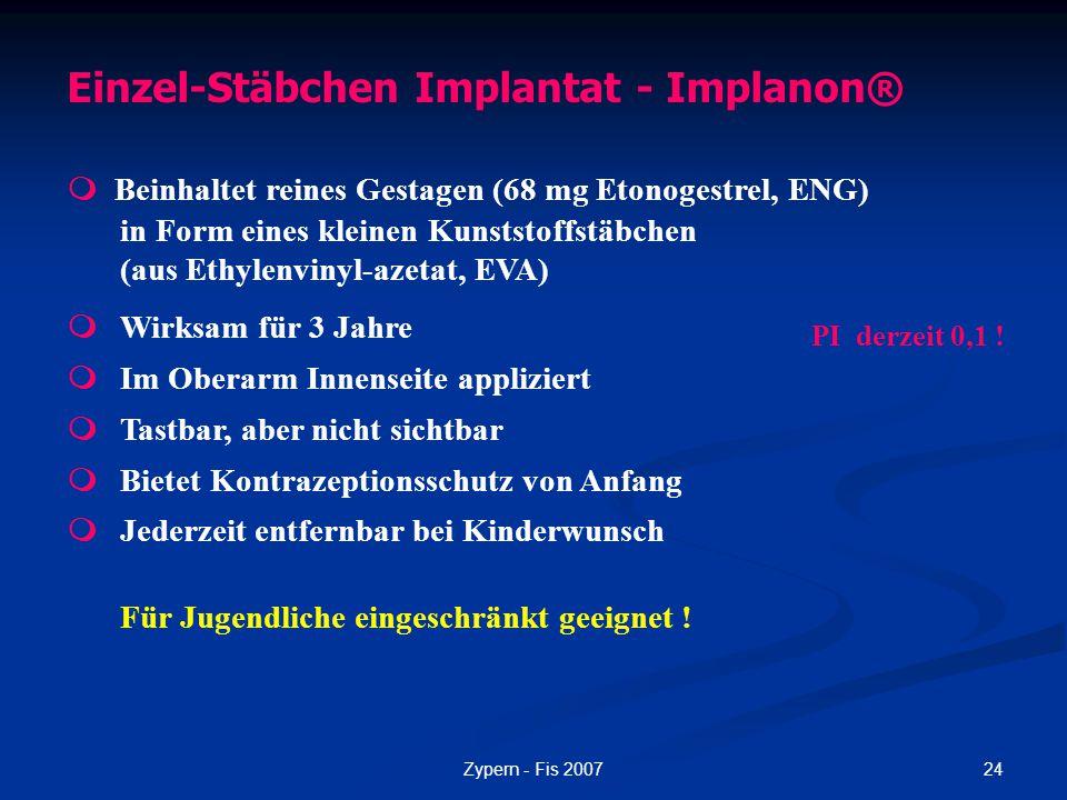 Einzel-Stäbchen Implantat - Implanon®