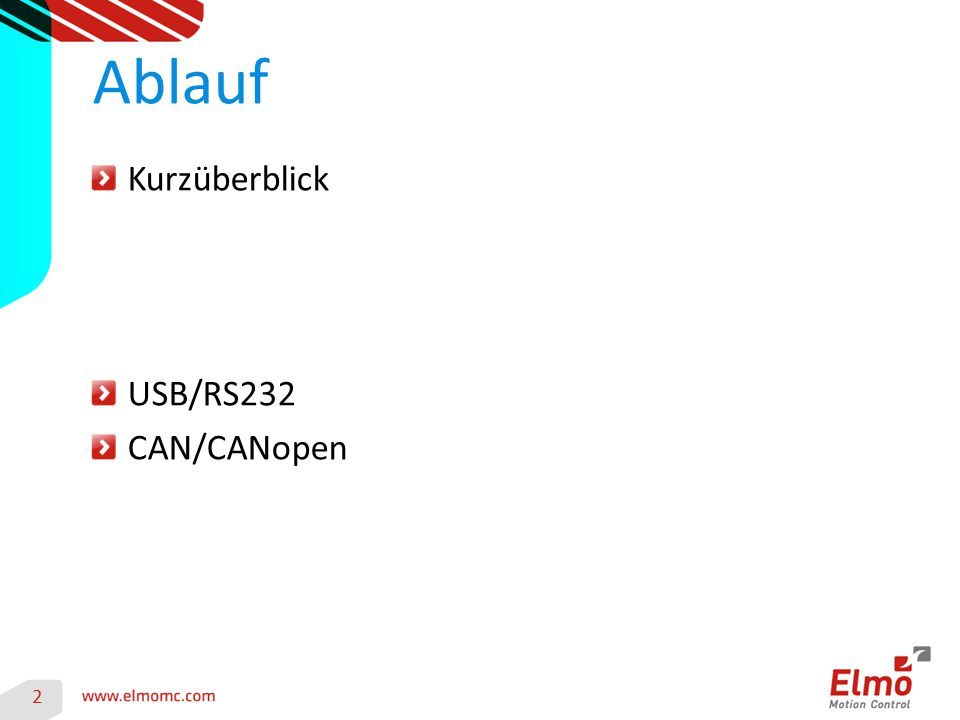 Ablauf Kurzüberblick USB/RS232 CAN/CANopen