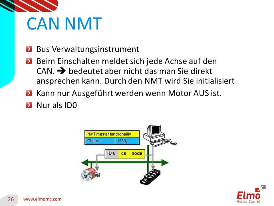 CAN NMT Bus Verwaltungsinstrument