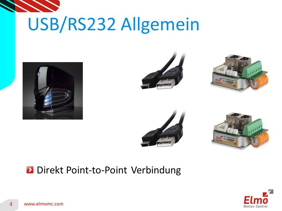 USB/RS232 Allgemein Direkt Point-to-Point Verbindung