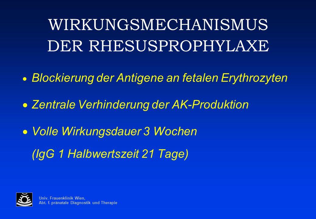 WIRKUNGSMECHANISMUS DER RHESUSPROPHYLAXE