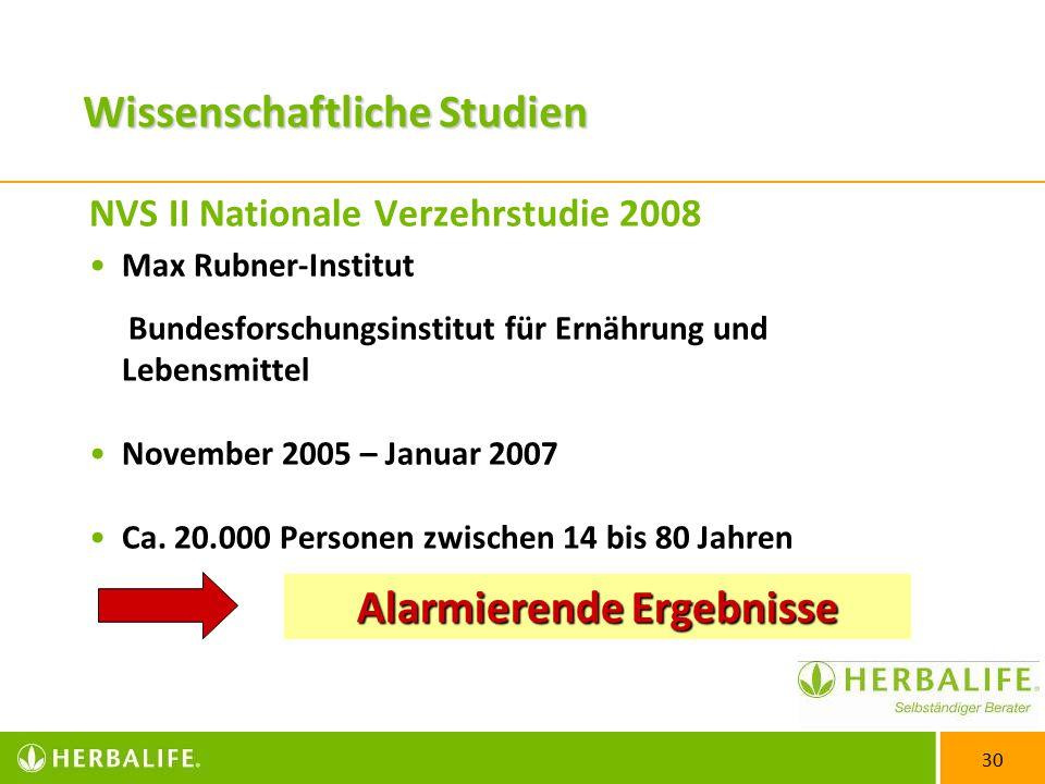 NVS II Nationale Verzehrstudie 2008