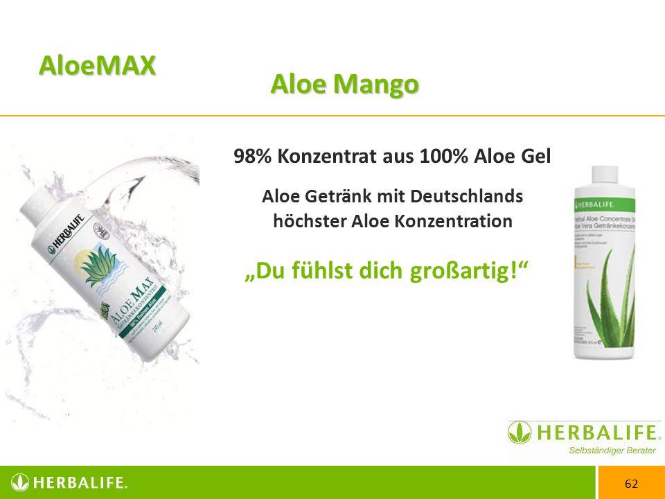 AloeMAX Aloe Mango 98% Konzentrat aus 100% Aloe Gel