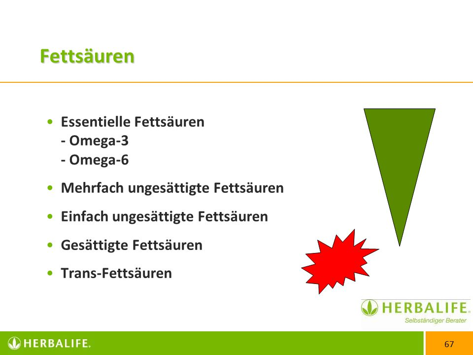 Fettsäuren Essentielle Fettsäuren - Omega-3 - Omega-6