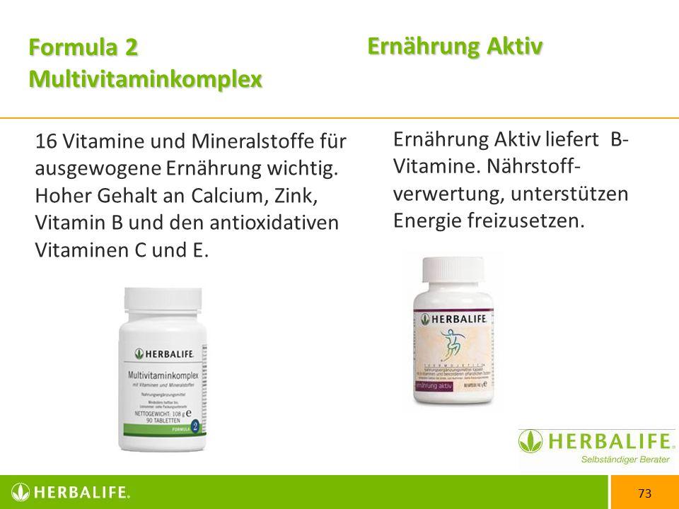 Formula 2 Multivitaminkomplex Ernährung Aktiv