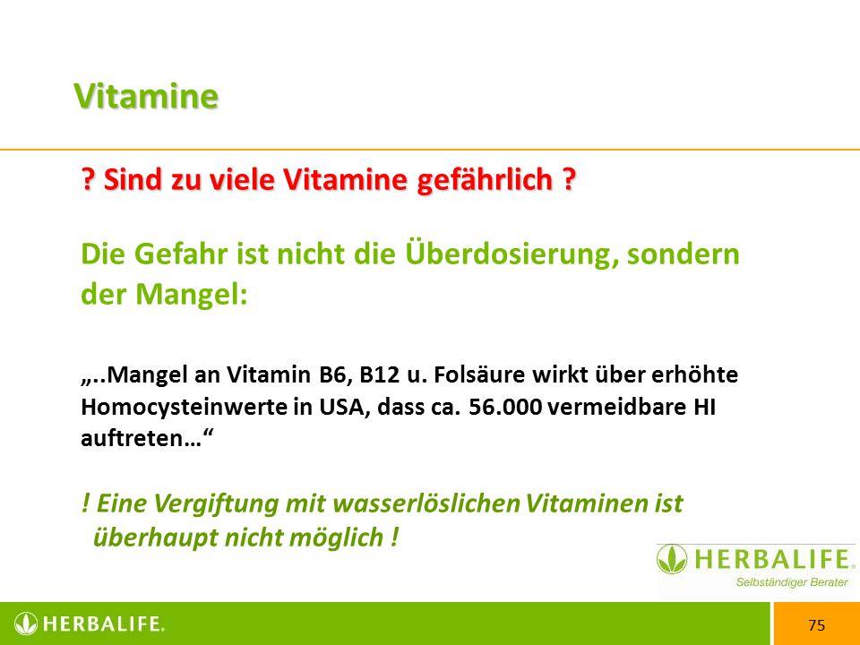 Vitamine Sind zu viele Vitamine gefährlich