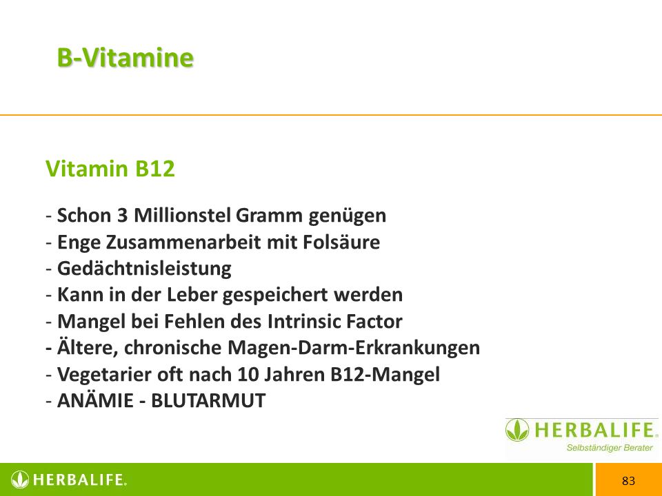 B-Vitamine Vitamin B12 Schon 3 Millionstel Gramm genügen