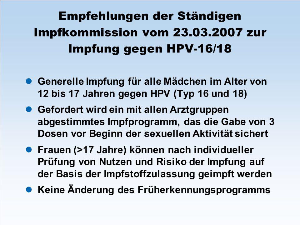 Empfehlungen der Ständigen Impfkommission vom 23. 03
