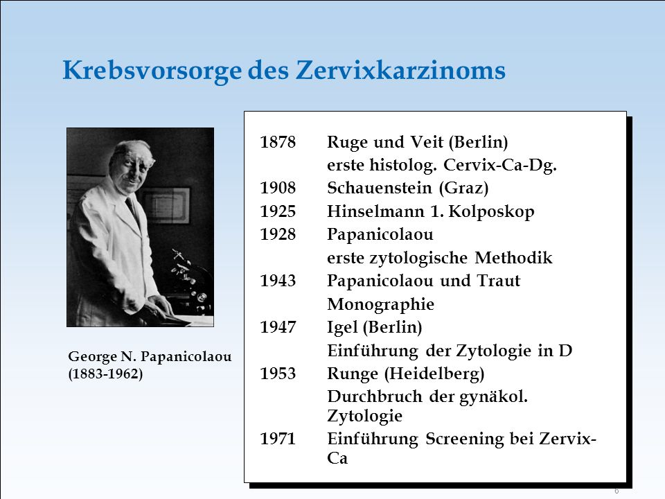 Krebsvorsorge des Zervixkarzinoms