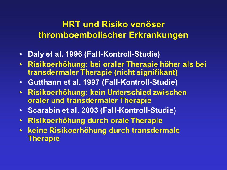 HRT und Risiko venöser thromboembolischer Erkrankungen