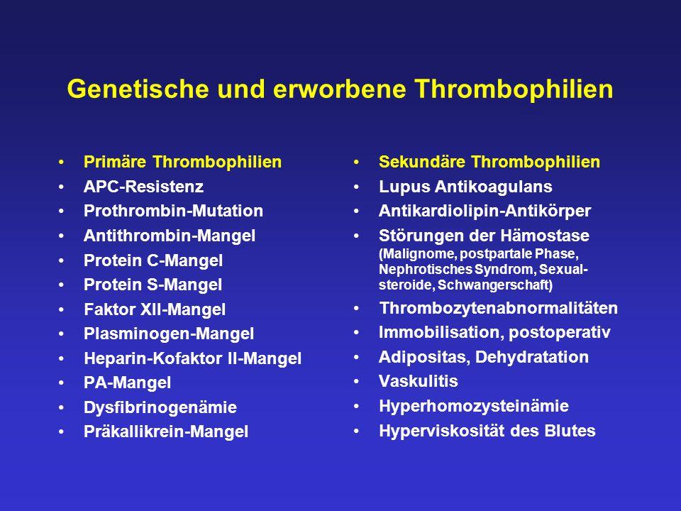 Genetische und erworbene Thrombophilien