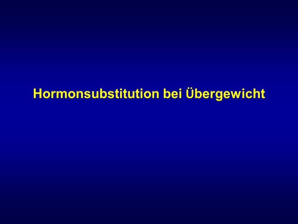 Hormonsubstitution bei Übergewicht