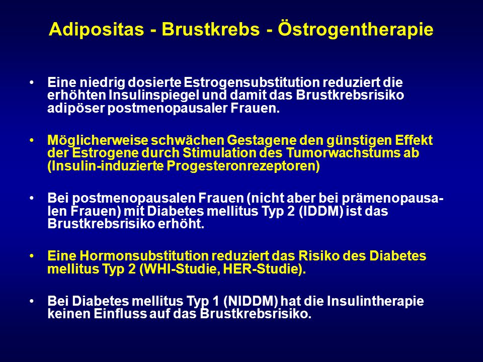 Adipositas - Brustkrebs - Östrogentherapie