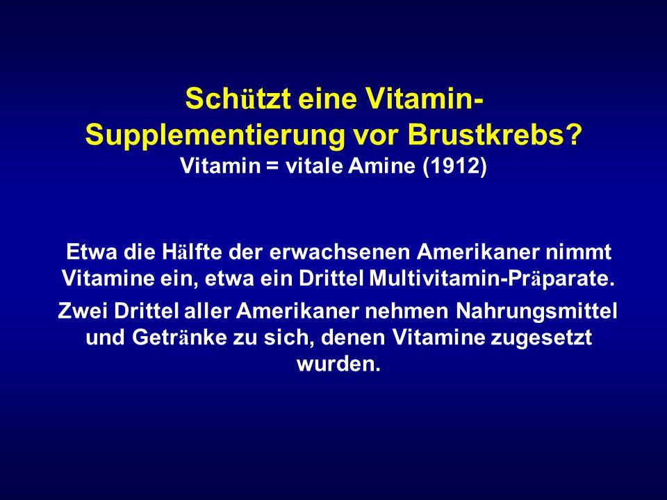 Schützt eine Vitamin-Supplementierung vor Brustkrebs