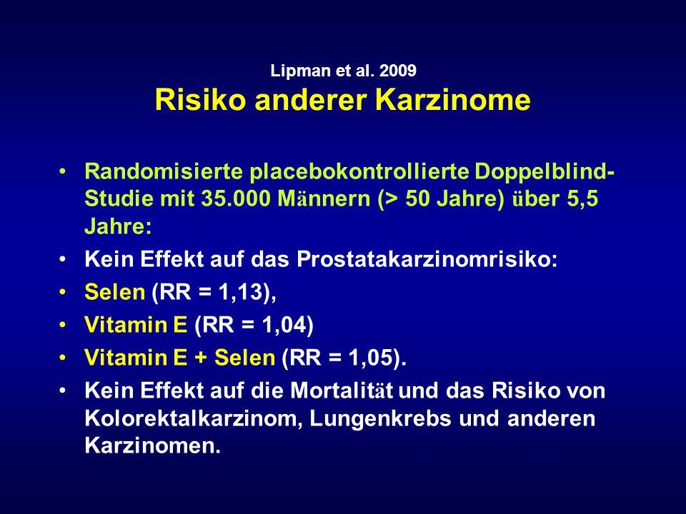 Lipman et al. 2009 Risiko anderer Karzinome