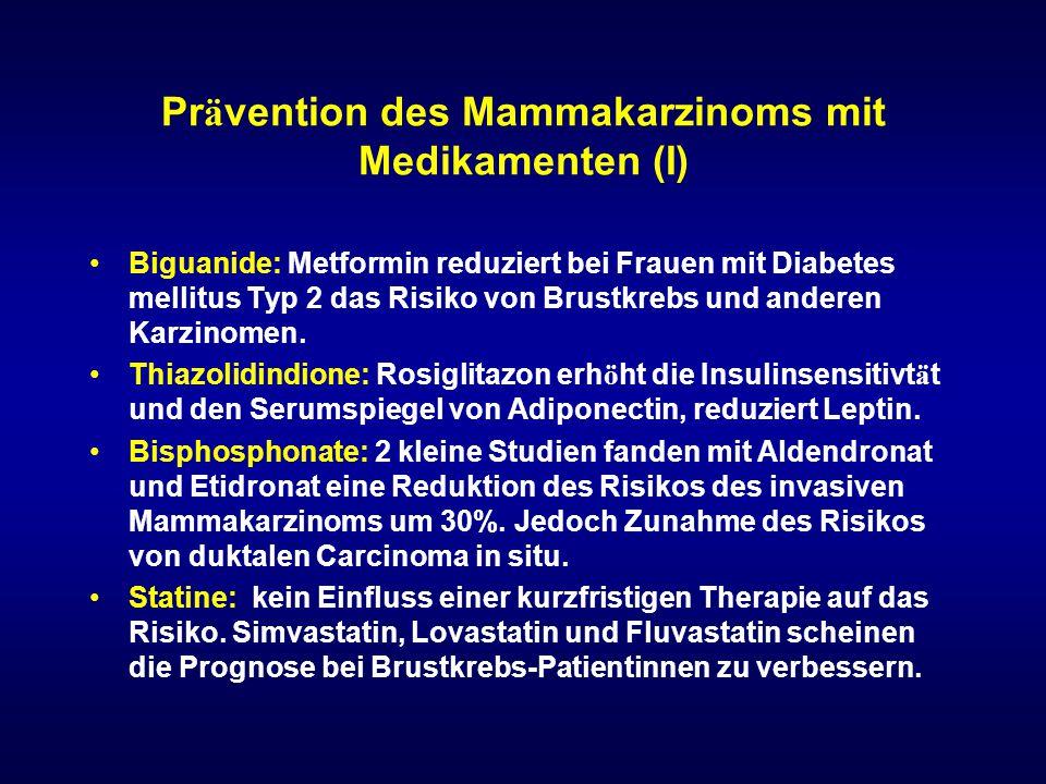 Prävention des Mammakarzinoms mit Medikamenten (I)