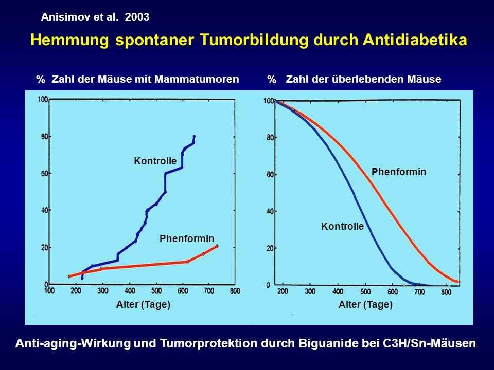 Hemmung spontaner Tumorbildung durch Antidiabetika