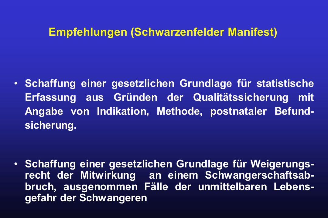 Empfehlungen (Schwarzenfelder Manifest)