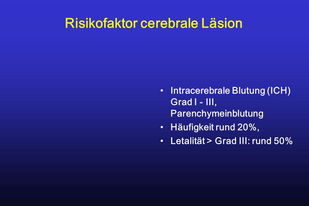 Risikofaktor cerebrale Läsion