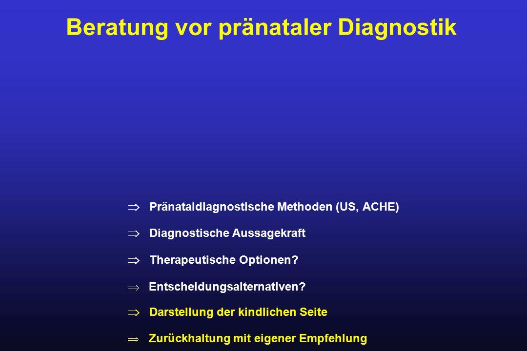 Beratung vor pränataler Diagnostik