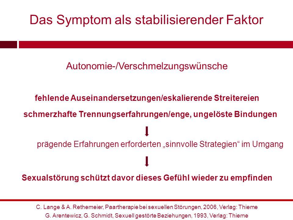 Das Symptom als stabilisierender Faktor