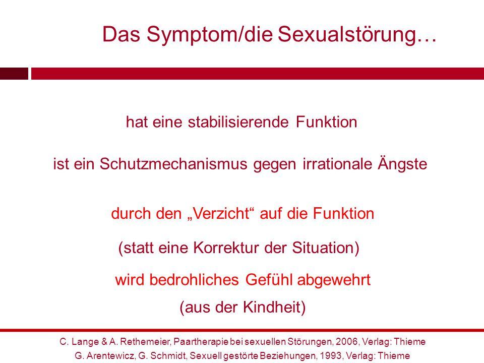 Das Symptom/die Sexualstörung…