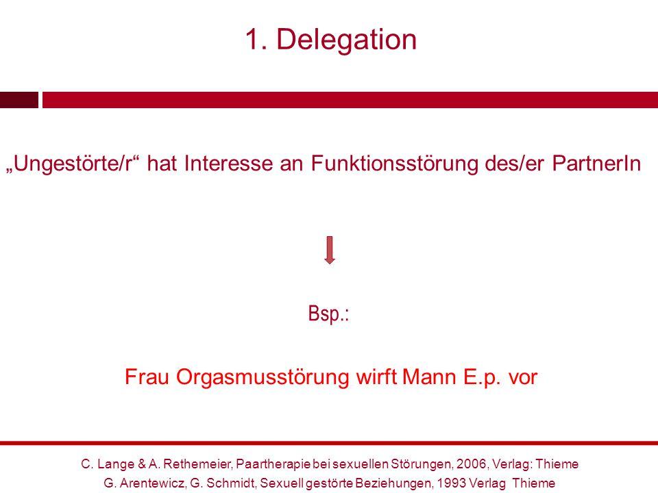 """1. Delegation """"Ungestörte/r hat Interesse an Funktionsstörung des/er PartnerIn. Kollusion Bsp.:"""