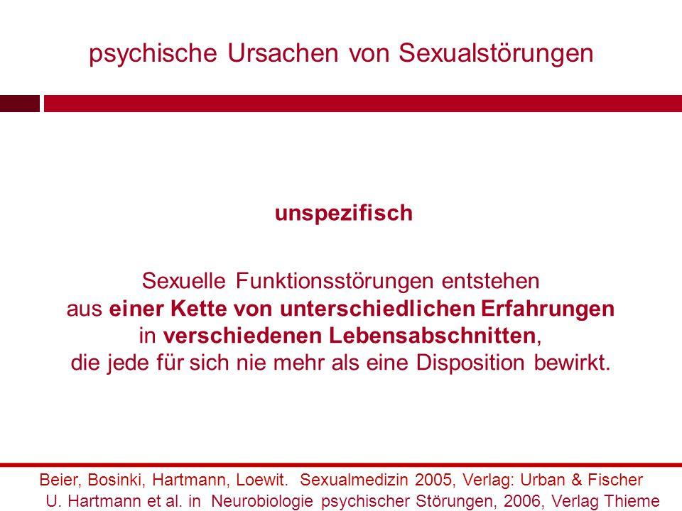 psychische Ursachen von Sexualstörungen