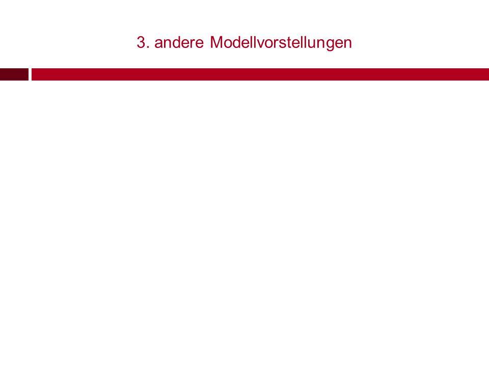 3. andere Modellvorstellungen