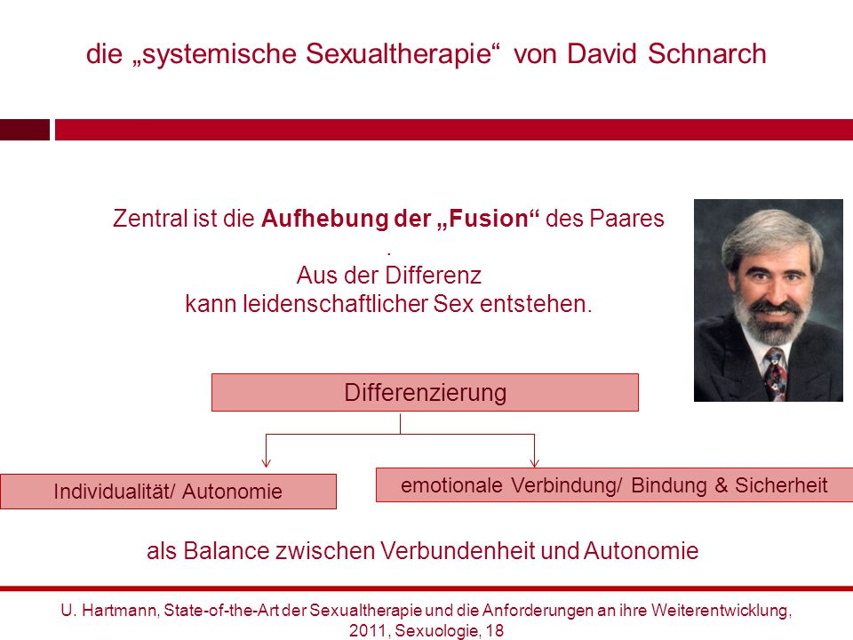 """die """"systemische Sexualtherapie von David Schnarch"""