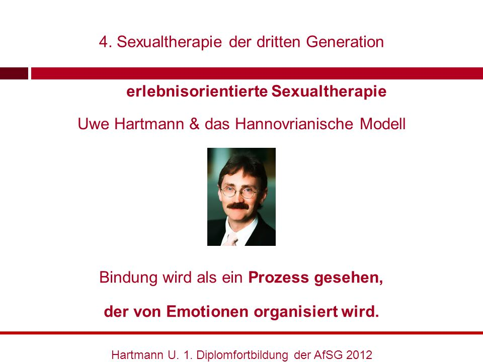 erlebnisorientierte Sexualtherapie der von Emotionen organisiert wird.