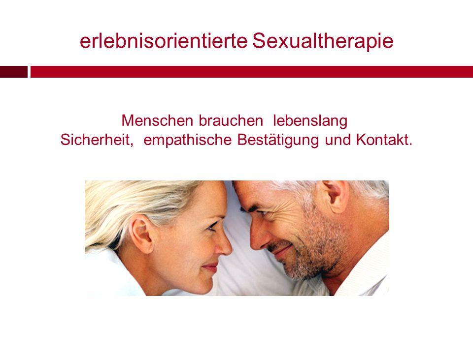 erlebnisorientierte Sexualtherapie