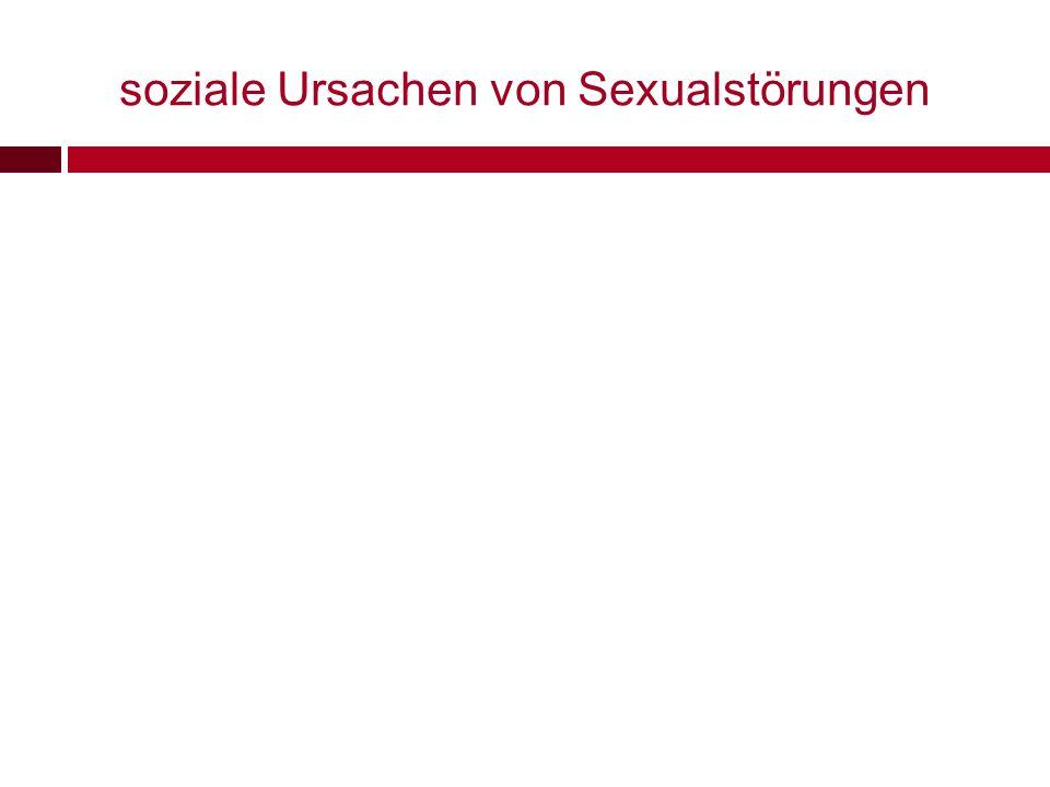 soziale Ursachen von Sexualstörungen