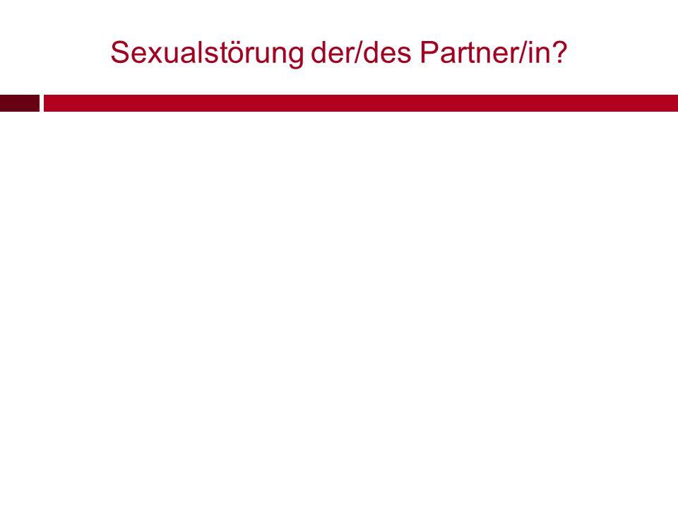 Sexualstörung der/des Partner/in