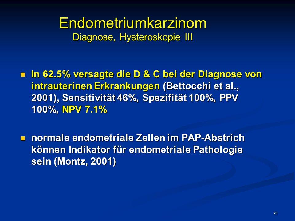 Endometriumkarzinom Diagnose, Hysteroskopie III