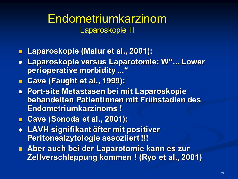 Endometriumkarzinom Laparoskopie II
