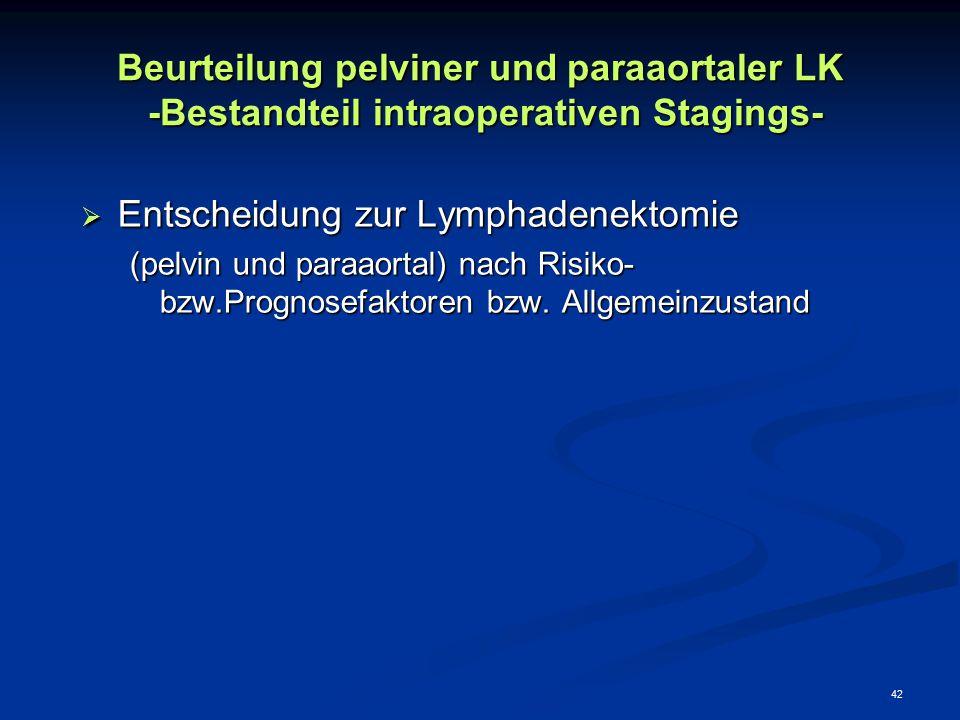 Entscheidung zur Lymphadenektomie