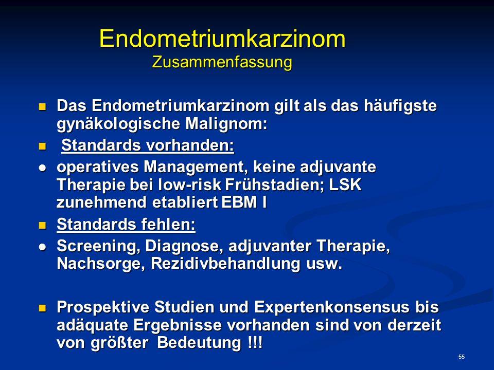 Endometriumkarzinom Zusammenfassung